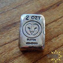 2oz Silver Bleyer Hand Poured Rectangular Owl Bar 2020