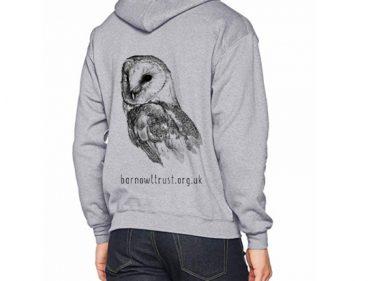 Barn Owl Print Hoodie Back