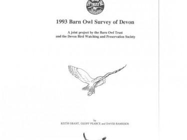 Barn Owl Trust 1993 Devon Barn Owl Survey Report