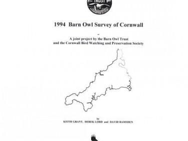 Barn Owl Trust 1994 Barn Owl Survey Of Cornwall