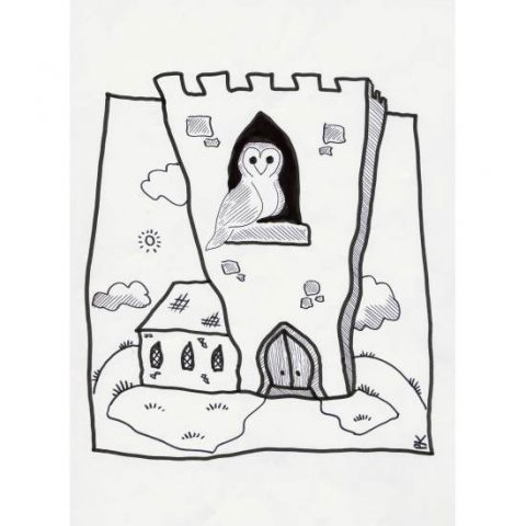 Barn Owl Trust Colouring Sheet Example Church Tower