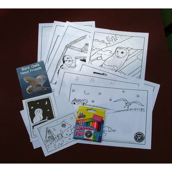Barn Owl Trust Colouring Pack