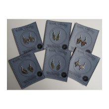 Tibetan silver earrings - leaf and tree designs