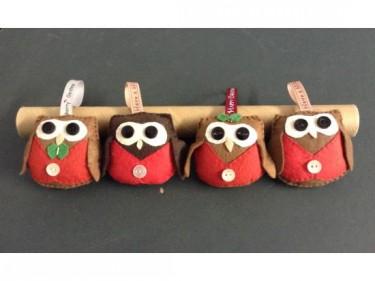 Barn Owl Trust Felt Owl Decorations