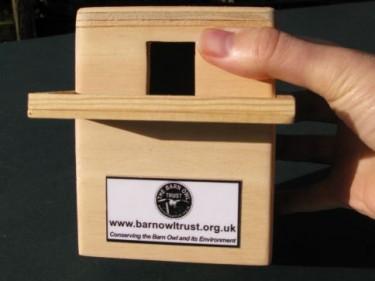 Barn Owl Trust Money Box Size