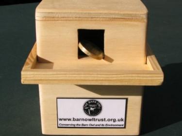 Barn Owl Trust Money Box With £1