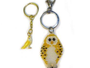 owl key ring set
