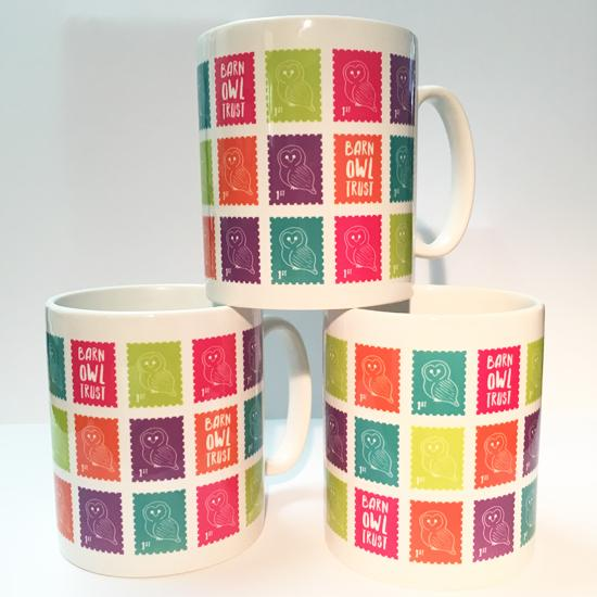 Barn Owl Trust Owl Stamp Design Mug 1