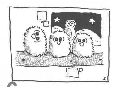 Barn Owl Trust Owlets A6 Black & White Card