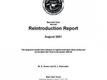 Barn Owl Trust Re Introduction Report 2001