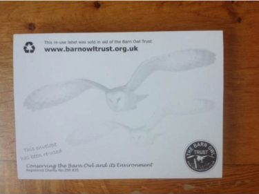Barn Owl Trust Reuse Label Pad