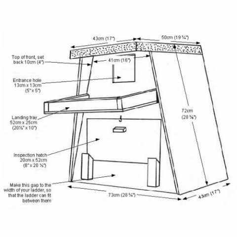 Barn Owl Trust Tree Box Drawing Plan