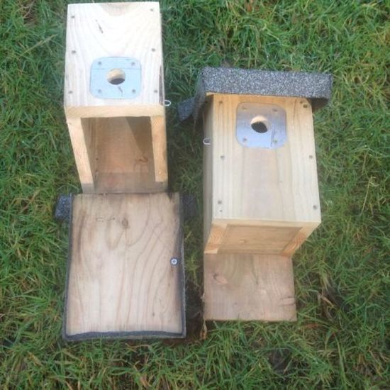 Barn Owl Trust Two Small Bird Boxes Open