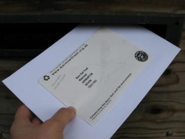 Barn Owl Trust Posting A Letter