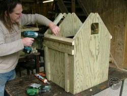 Barn Owl Pole-Mounted Nestbox Construction 17