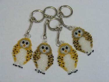 Beaded Owl Keyrings Traditional 4