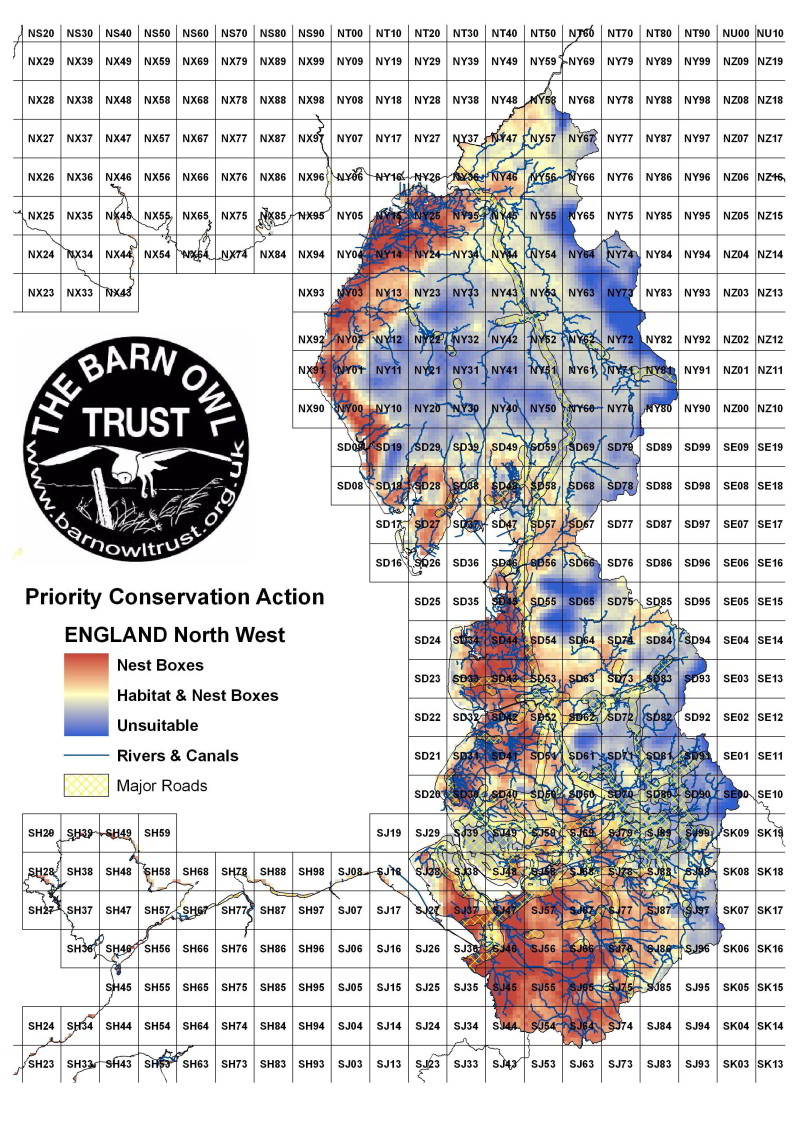 Barn Owl habitat suitability map