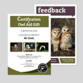 Email barn owl aid gift