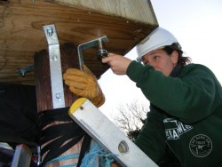 Erecting A Polebox By Hand 15