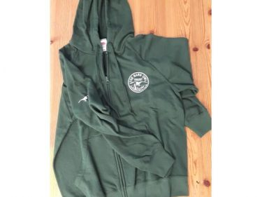 Green Zip Through Hoody