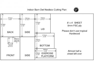 Indoor Nestbox Cutting Plan