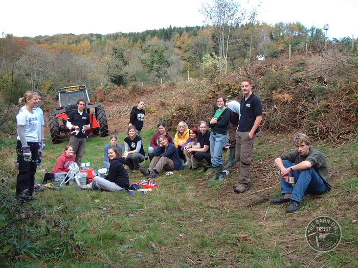 LLP volunteers Forde Orchard Plymouth University Students