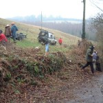 LLP Hedge Coppicing Staff Volunteers