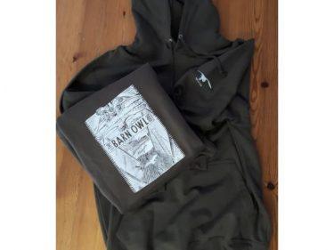 Olive Block Hooded Sweatshirt 1