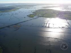 Past Population Somerset Levels Flooded Landscape