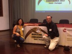 World Owl Conference 2017 Inês Roque with David Ramsden