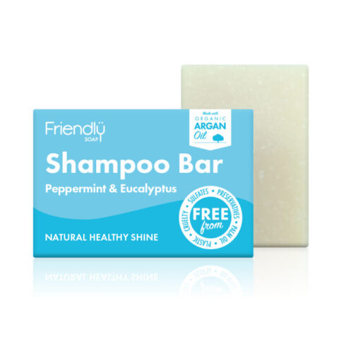 Friendly peppermint shampoo bar