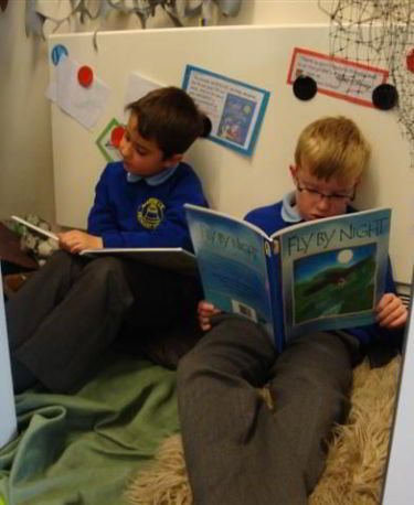 Nocturnal Animal Reading Corner Euxton CE PrimarySchool Lancashire