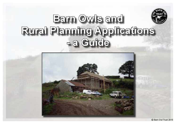Planning Barn Owl Planners Guide 2015