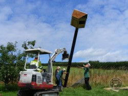 Erecting a Pole nest Box