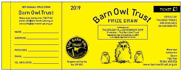 Prize Draw Ticket 2019