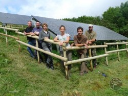 LLP Solar panels and volunteers who erected the fence [David Ramsden]