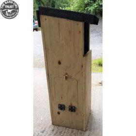 Tawny owl box left hatch
