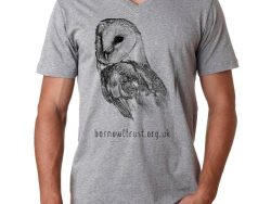Barn Owl Print Tshirt V Mens