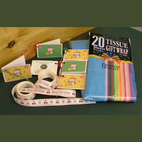Barn Owl Trust Christmas Gift Wrap Pack Contents