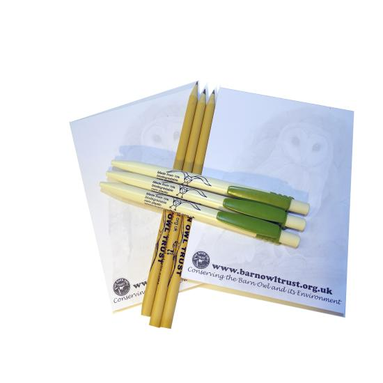 Barn Owl Trust Eco Writing Stationery Set