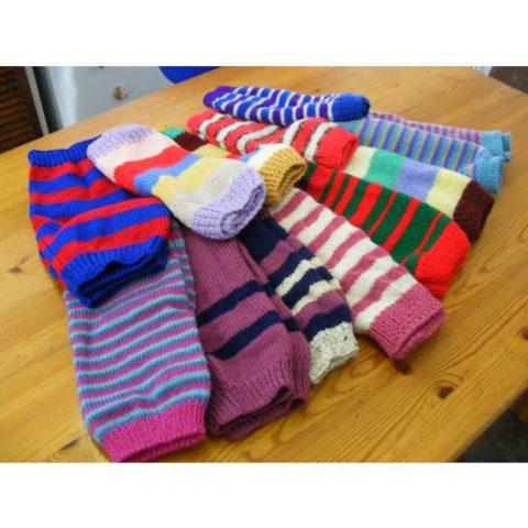 Barn Owl Trust Leg Warmers Stripe
