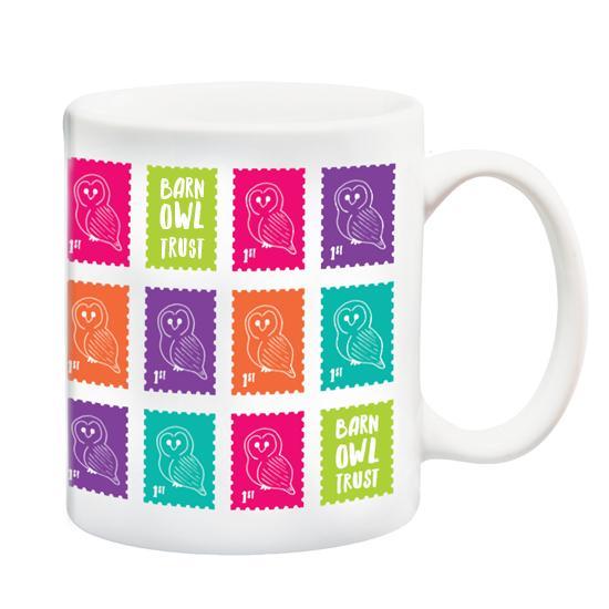 Barn Owl Trust Owl Stamp Design Mug 2