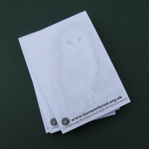 Barn Owl Trust Owl Note Pads