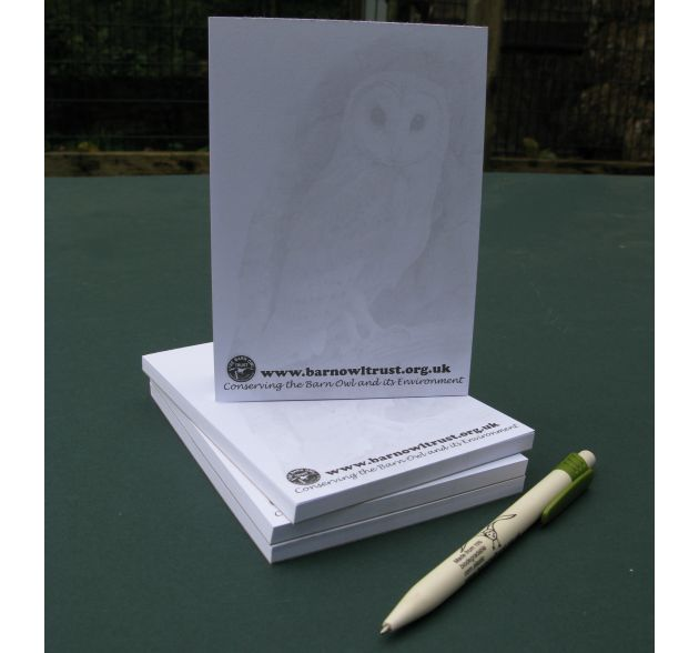 Barn Owl Trust Owl Note Pads Stacked