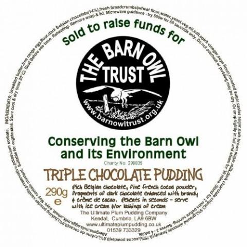 Barn Owl Trust Triple Chocolate Pudding