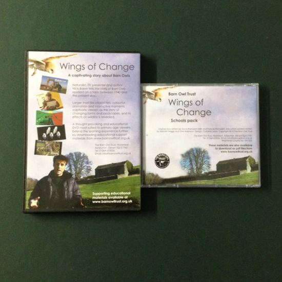 Barn Owl Trust Wings Of Change DVD & Schools Pack Back Covers