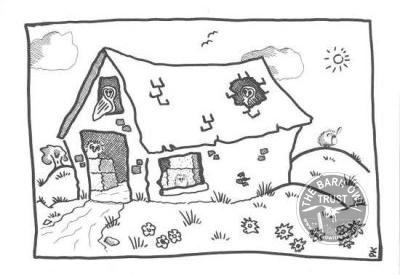 Barn Owl Barn Black White Card