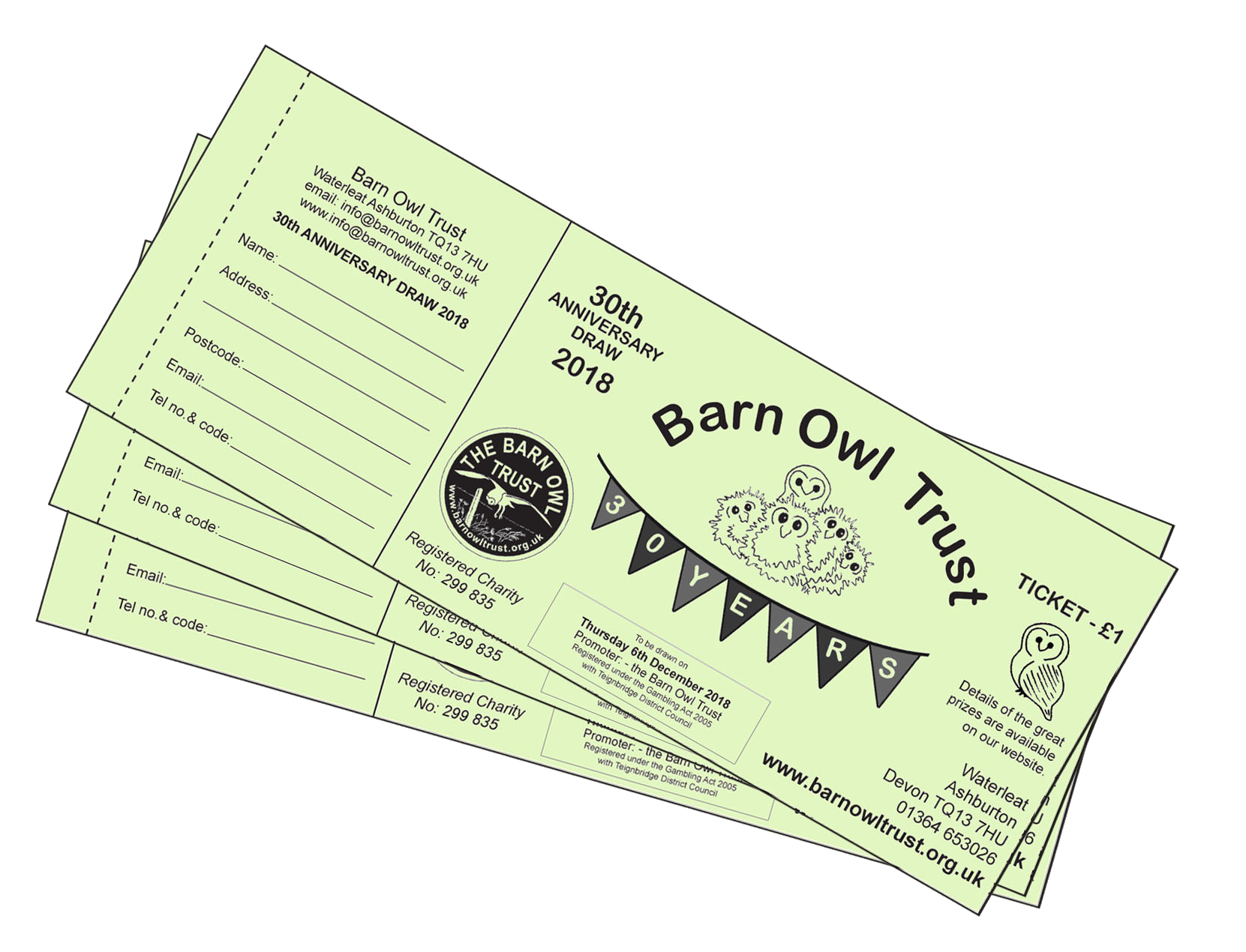 prize draw tickets