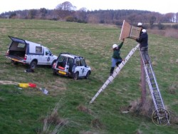 Erecting A Polebox By Hand 10