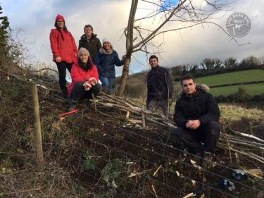 Hedgelaying Volunteers In The LLP LLP Wildlife Diary December 2017